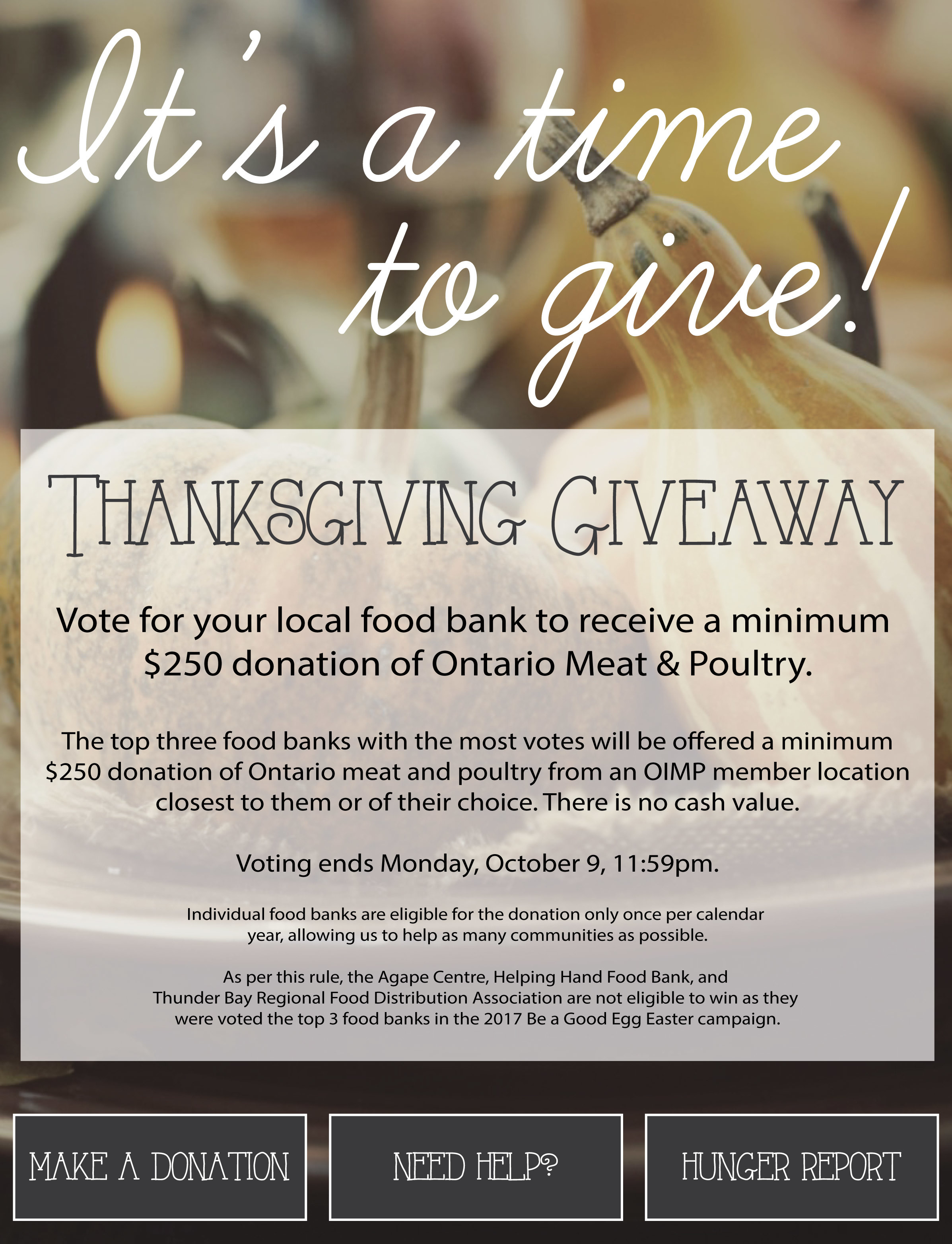 Residents can help Brock Community Food Bank in online contest