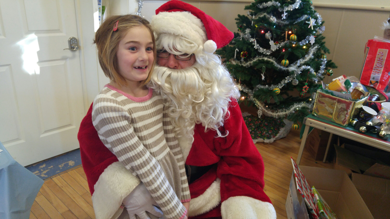 Santa Claus visits Manilla hall for Christmas party
