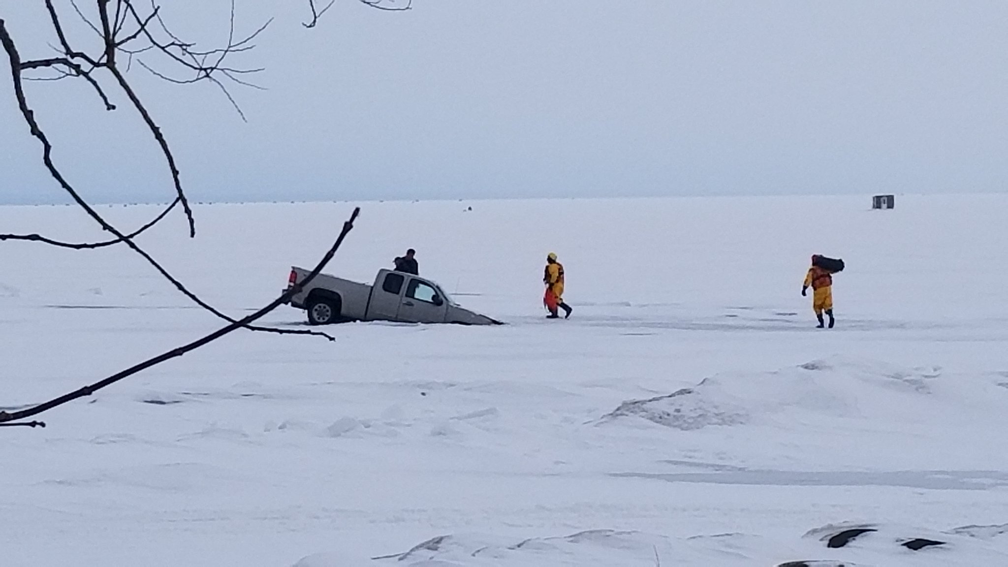 Georgina firefighters rescue man after truck goes through ice on Lake Simcoe