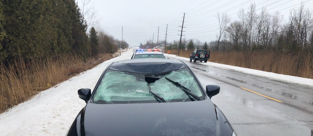 Police reminding motorists to clear ice off their vehicles
