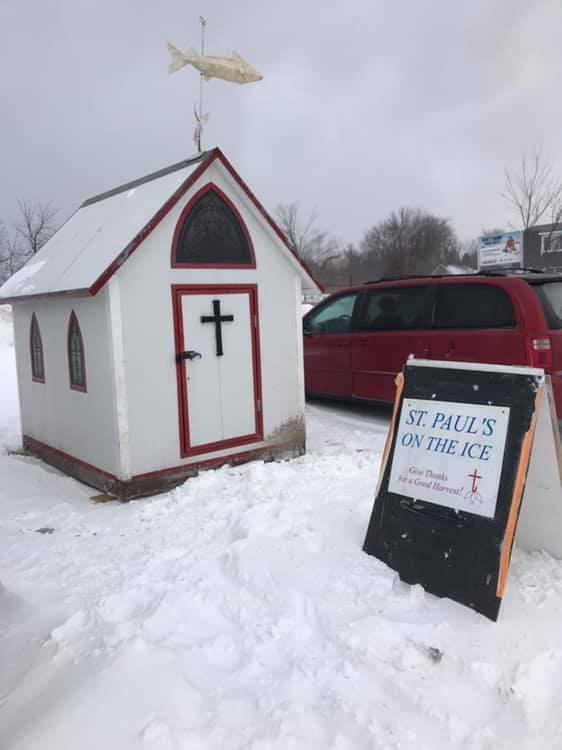 Ice chapel returns to the shores of Lake Simcoe