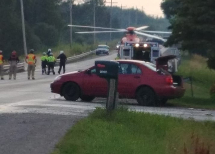 Driver of motorcycle airlifted following accident on Regional Road 15