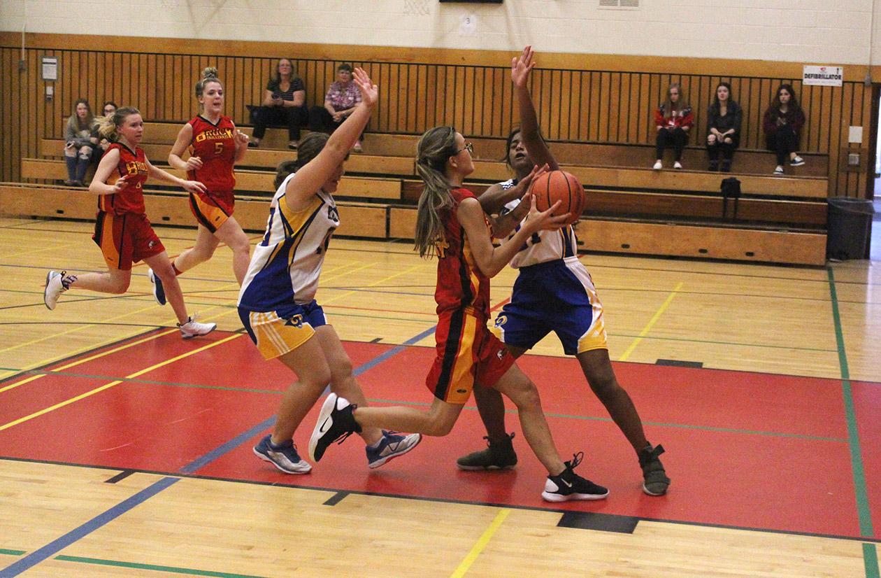Brock High's junior girls basketball team contending for COSSA title