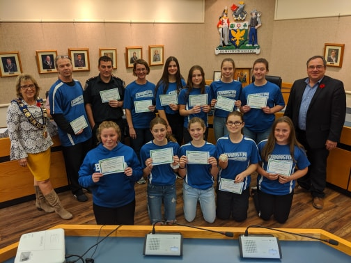 Minor baseball teams recognized by township council