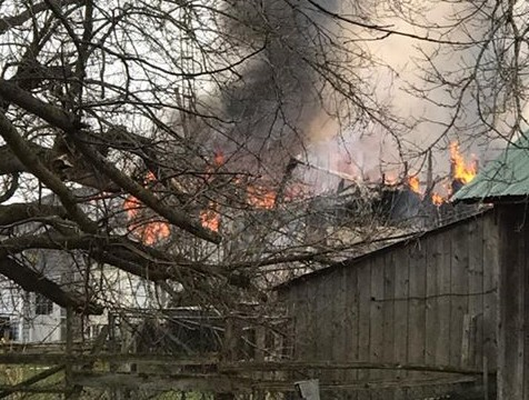 Fire levels home near Wilfrid