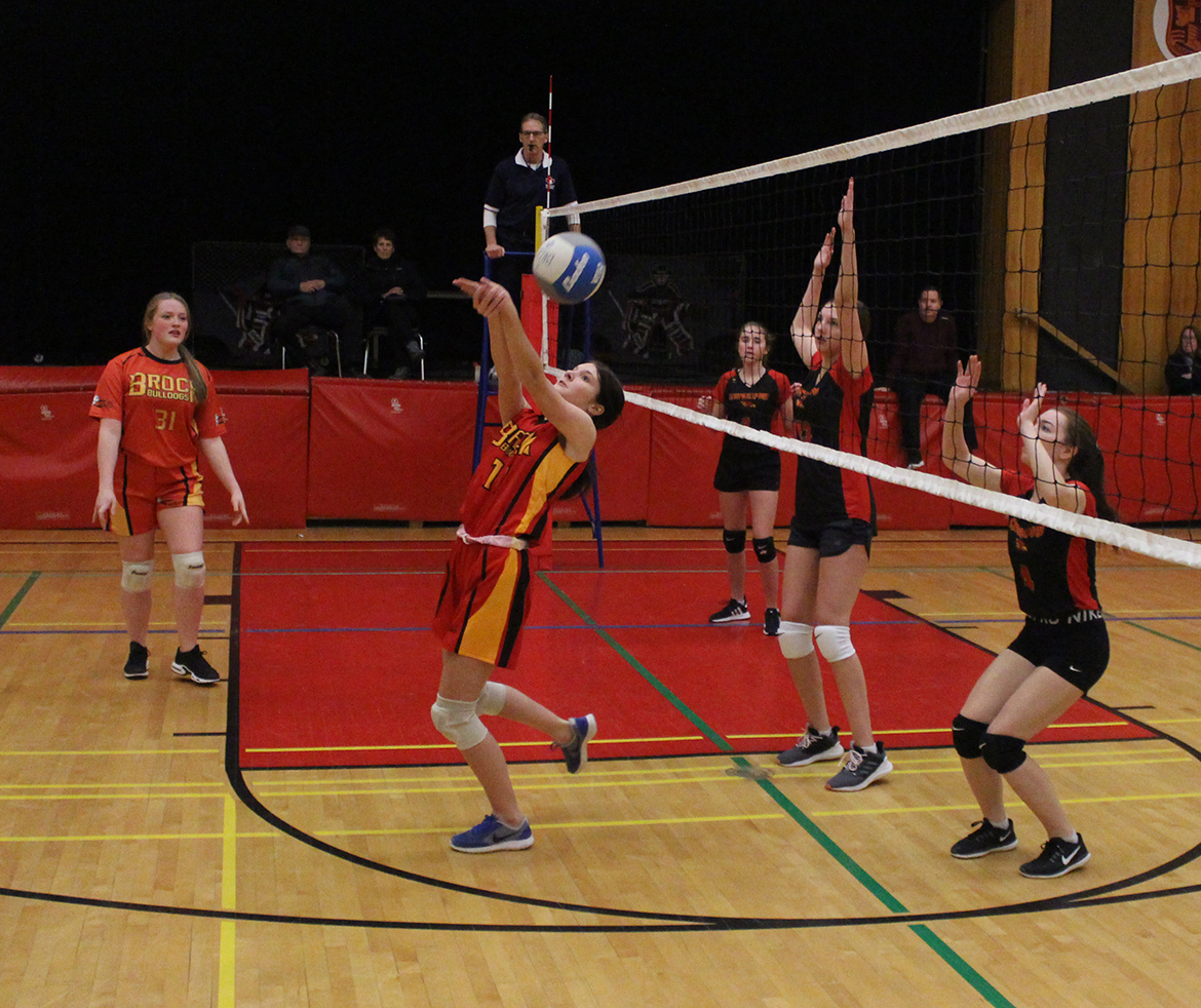 Brock High's junior girls volleyball team hits the court before the holiday break