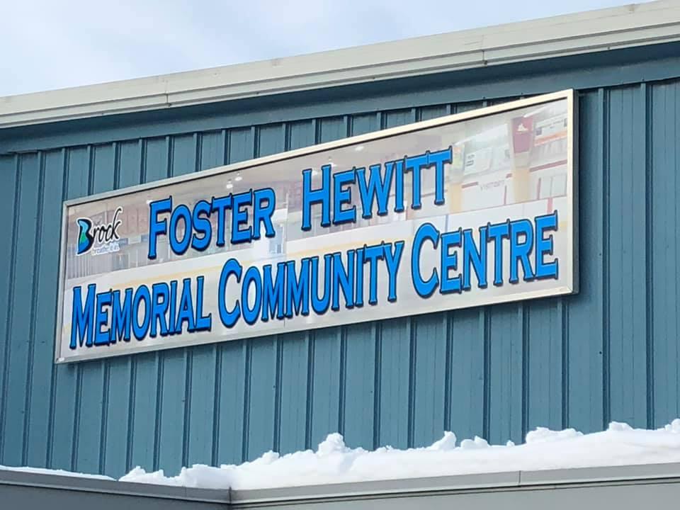 New signs for Beaverton arena honour Foster Hewitt