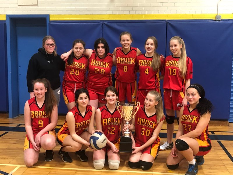 Brock High's junior girls volleyball team wins Kawartha championship
