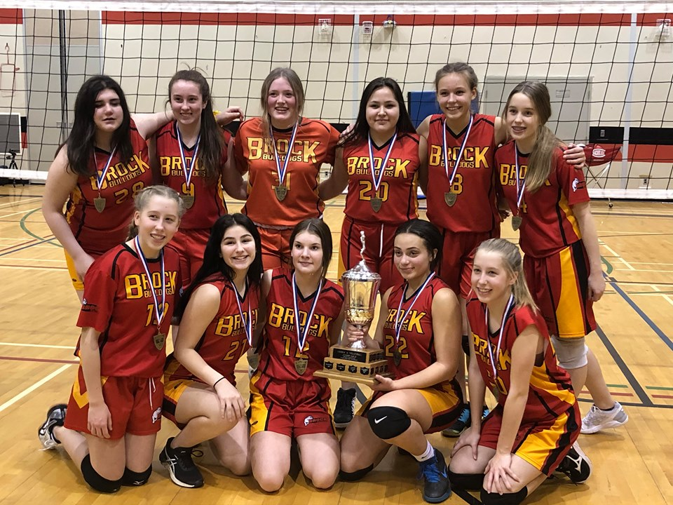 Brock High's junior girls volleyball team wins COSSA title
