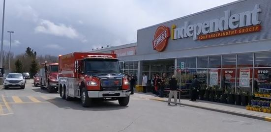 First responders rally in support of frontline workers in Beaverton