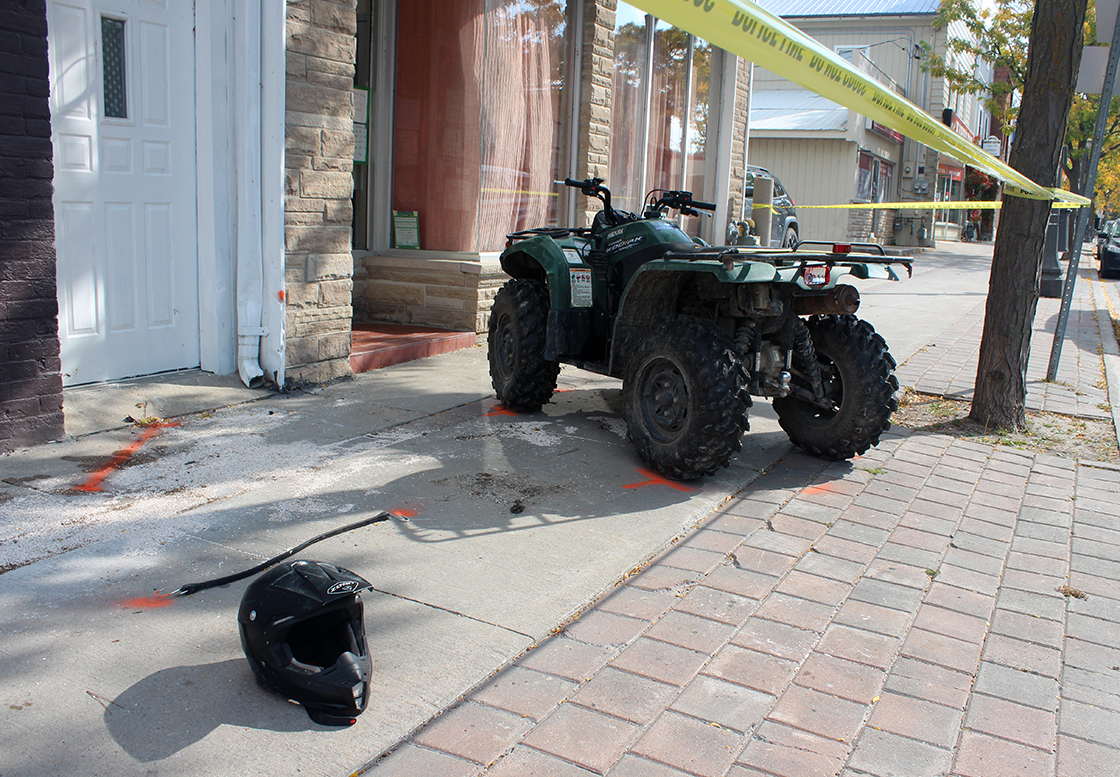 Man suffers serious injuries after crashing ATV while allegedly attempting to flee from police
