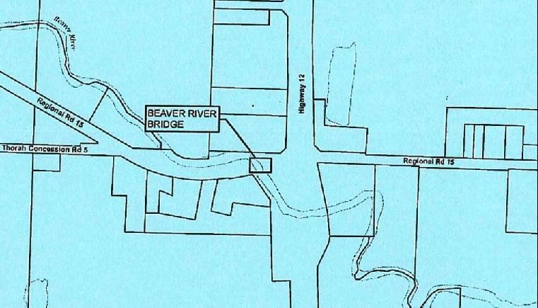 Road closure for repairs to Beaver River Bridge, Simcoe Street