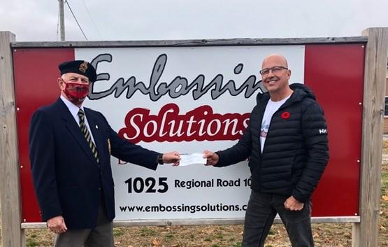 Business raises $1,000 for Sunderland Legion