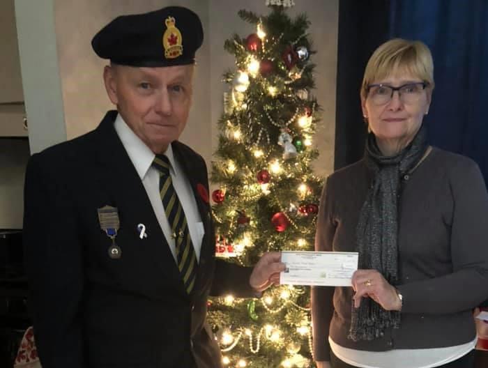 Brechin-Mara Legion branch donates $1,000 to Brock Community Food Bank